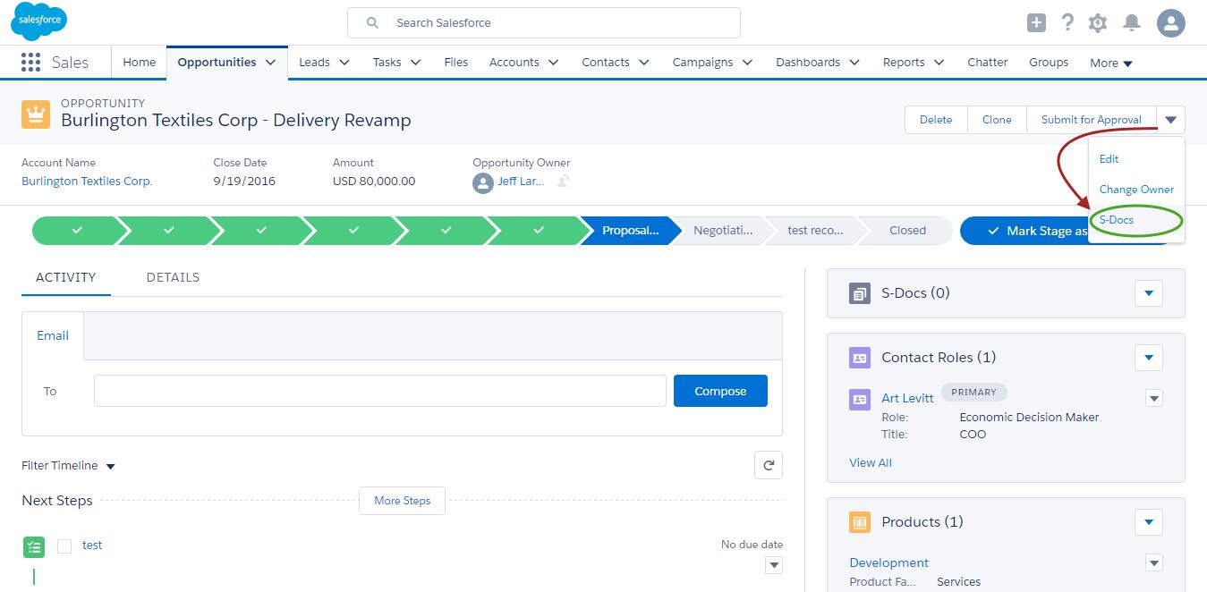 SDocs With Salesforce Lightning SDocs For Salesforce - Salesforce invoicing app