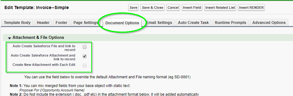 Saving S-Docs as attachments - S-Docs for Salesforce
