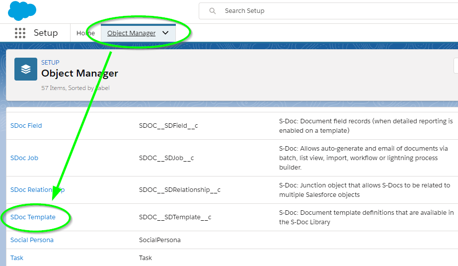 Configuring S-Docs with Custom Objects - Salesforce