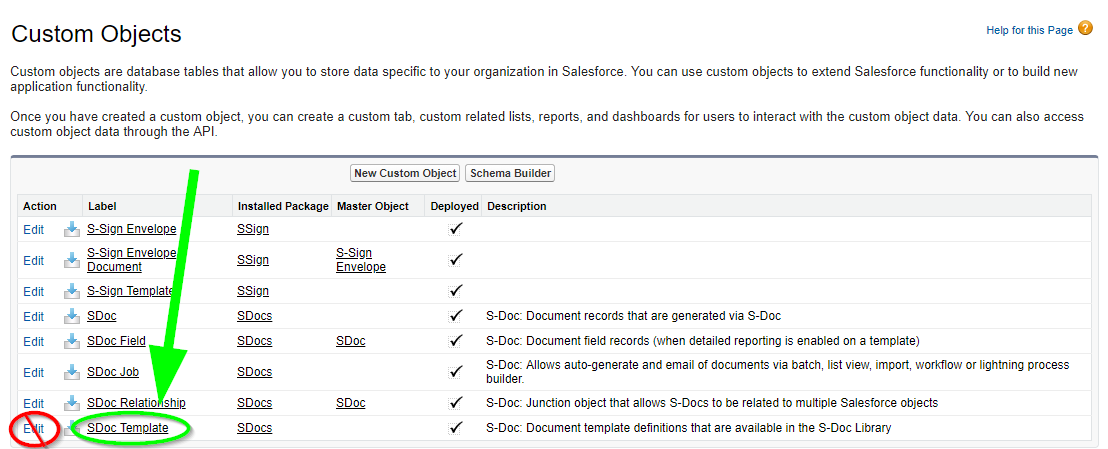 Configuring S-Docs with Custom Objects - Salesforce Classic