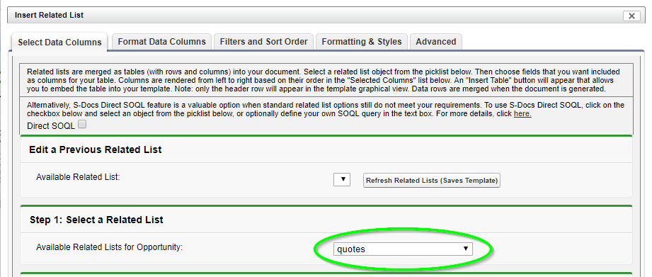 Adding a Related List to Your Template - S-Docs for Salesforce