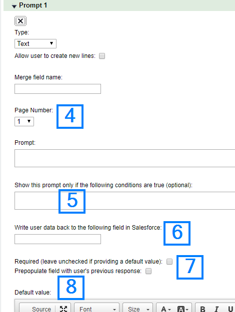 Merge User Input with Documents at Runtime - S-Docs for
