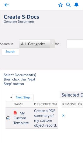 Using S-Docs with the Salesforce Mobile App - S-Docs for